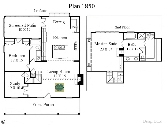 Plan 1850 for Tiny house floor plans for sale