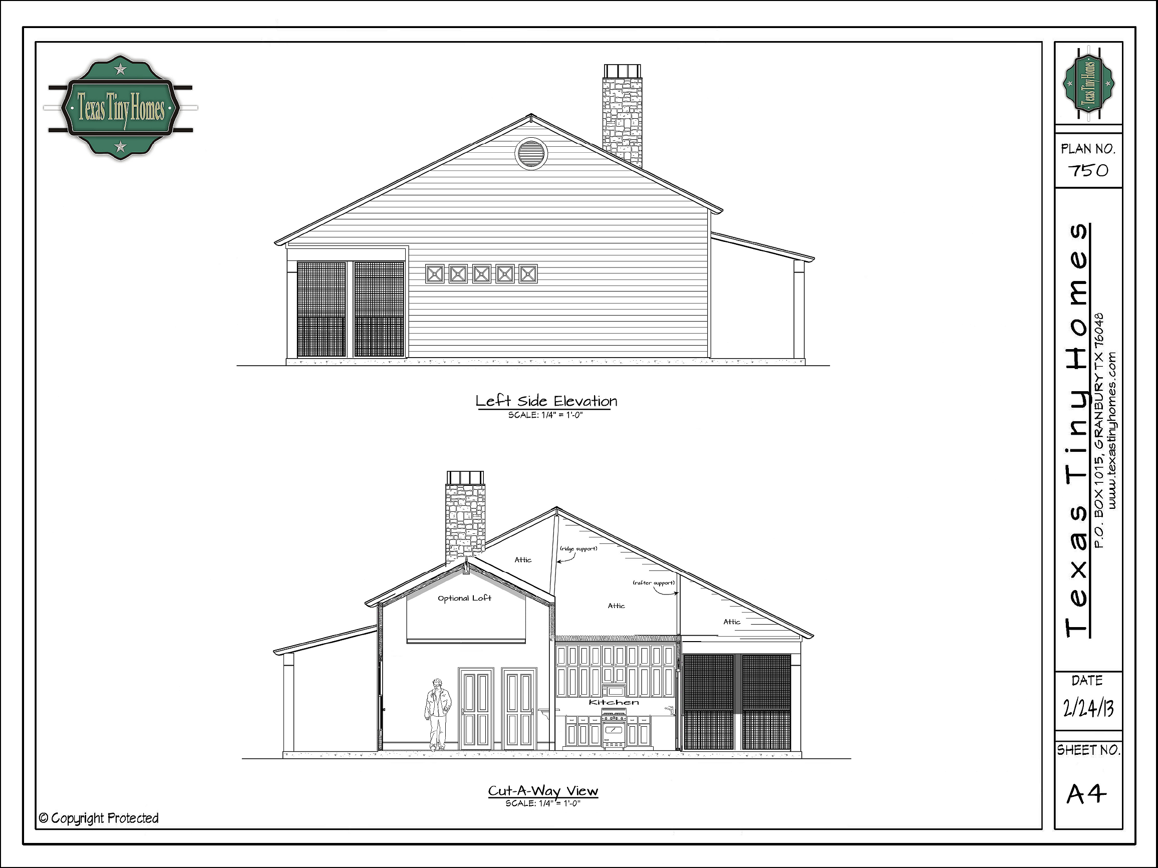 Texas tiny homes plan 750 for Home builders floor plans