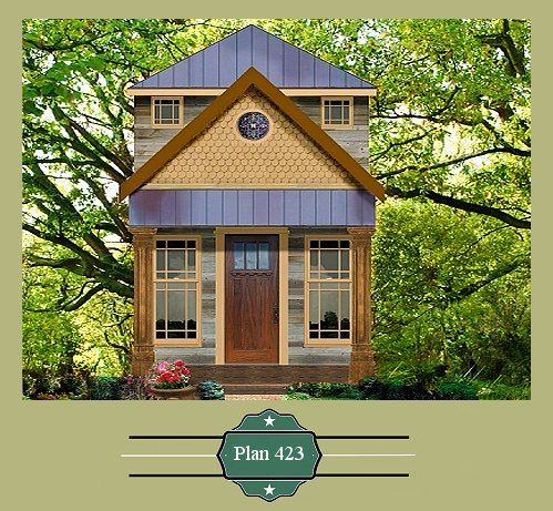 Plan 423 Small house blueprint