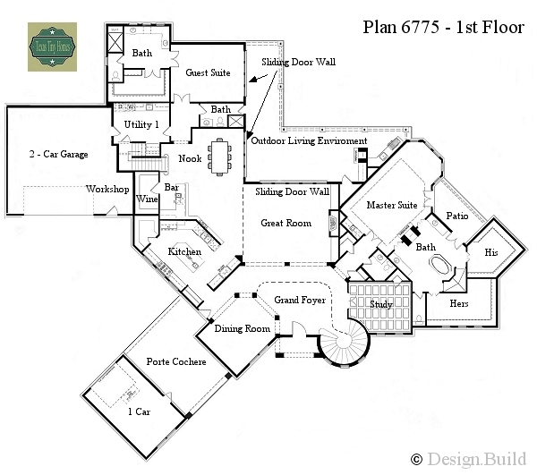 Austin hill country floor plans joy studio design for Texas house floor plans