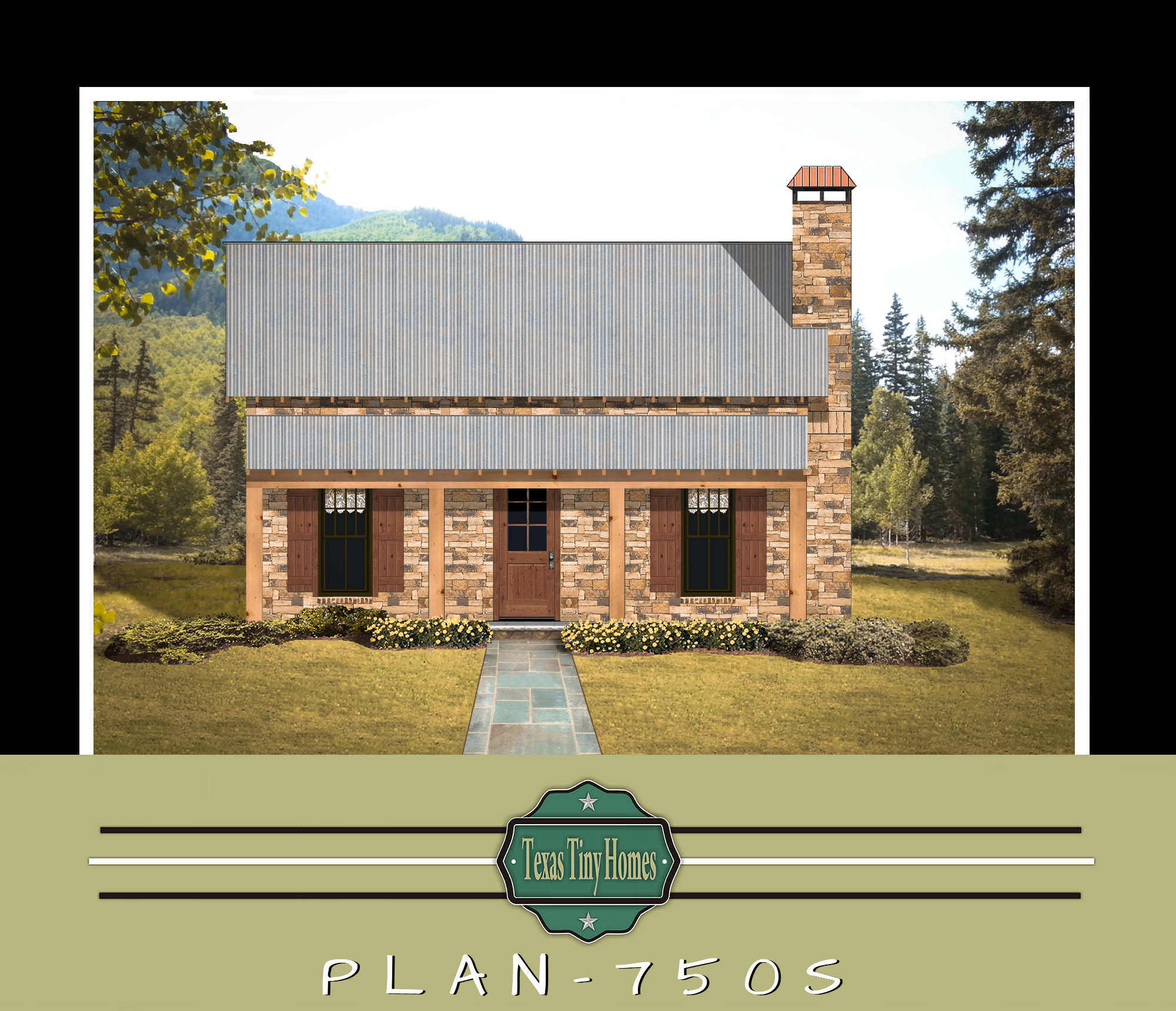 Texas Tiny Homes Plan 750