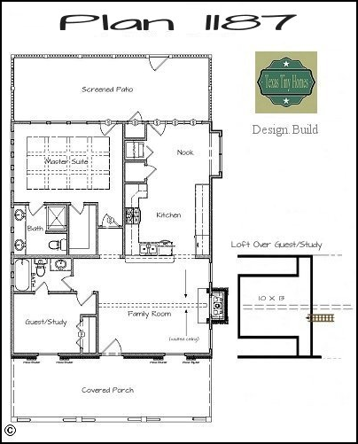 Plan 1187 for Small house plans texas