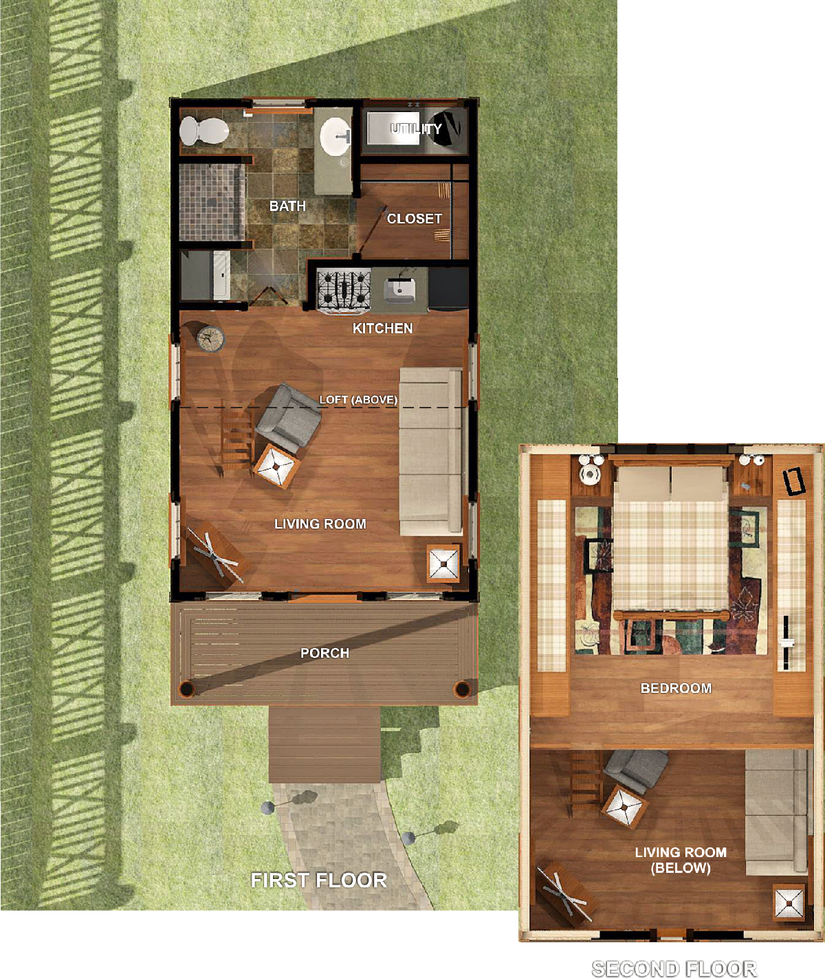 Texas tiny homes plan 448 for Texas home builders floor plans