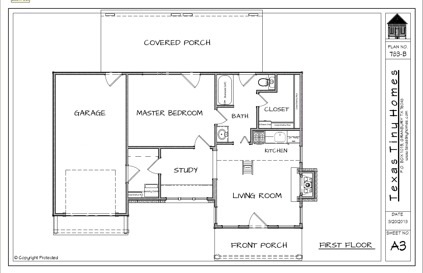 Plan 783 texas tiny homes for Texas house floor plans