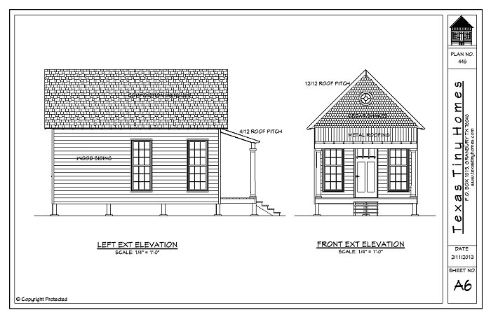 Sample Front Elevation For Small N Houses : Texas tiny homes plan