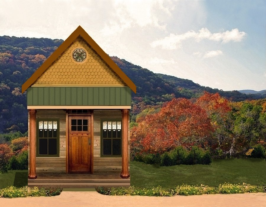 Texas tiny homes plan 448 for Small home builders texas