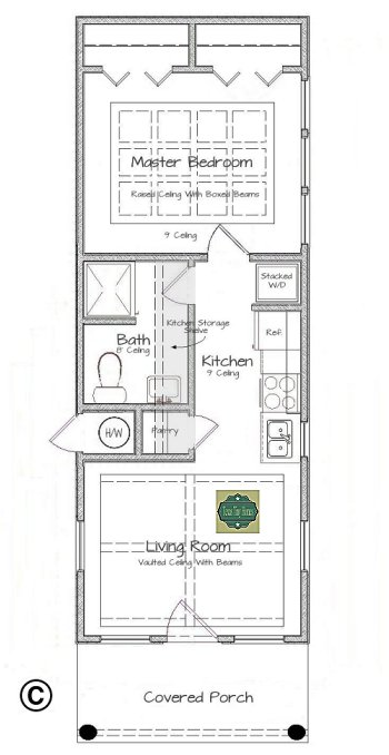 Plan 408 for Tiny house floor plans for sale