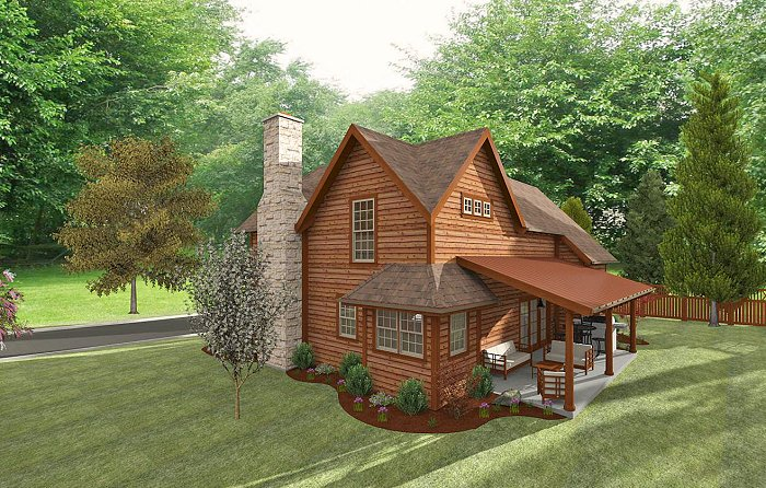 Log cabin house plans walkout basement with paypal online for Small house plans texas