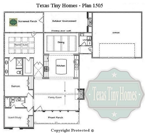 Plan 1505 for Small house plans texas