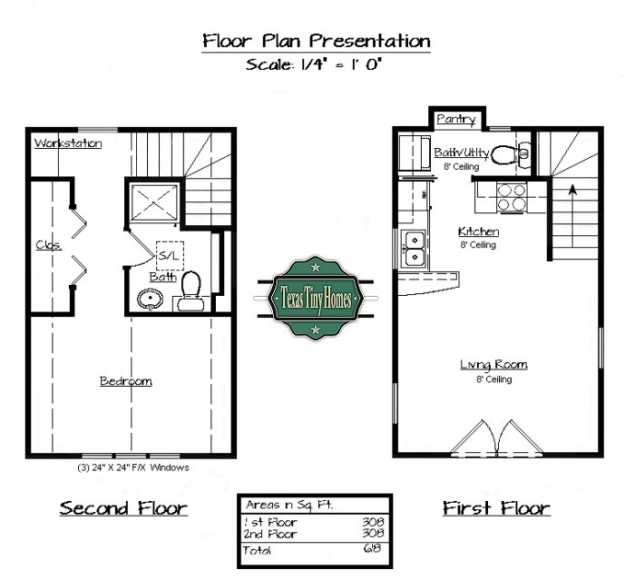 Texas tiny homes plan 618 for Small house plans texas