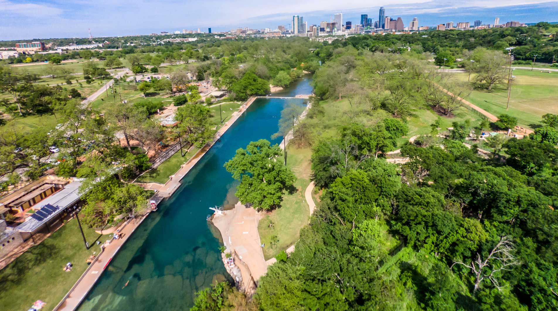 Barton Springs Pool A Texas Spring Fed Swimming Hole