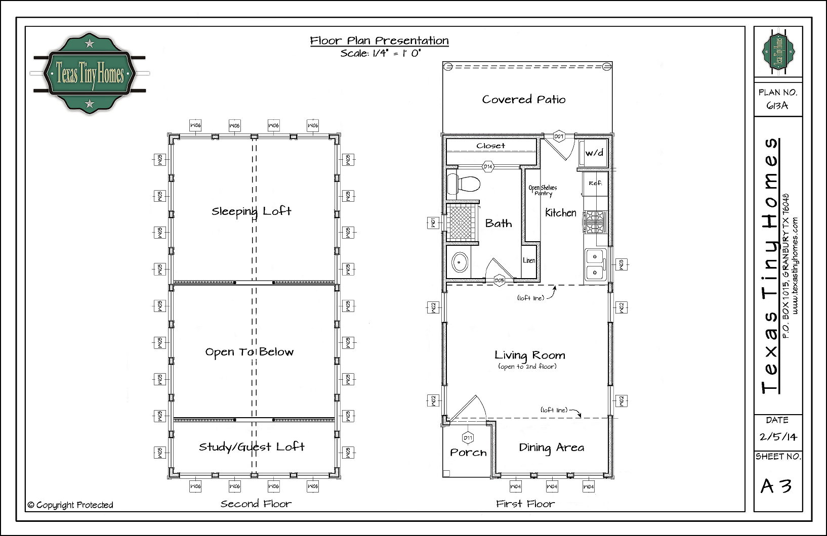 Plan 613 a for Floor plans presentation