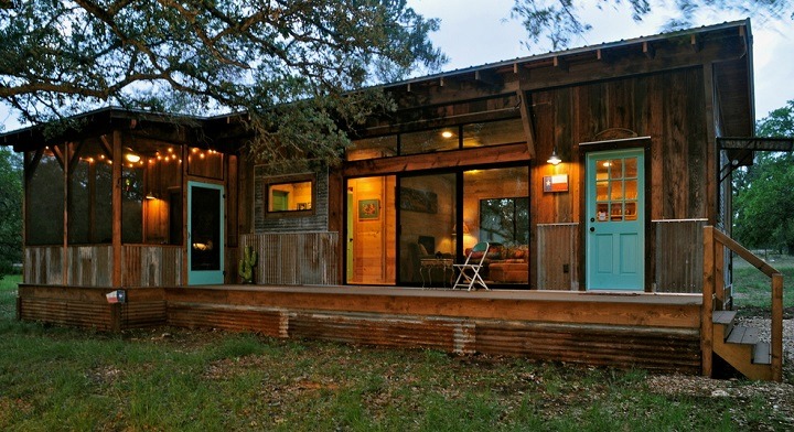 Salvaged Wood Cabins