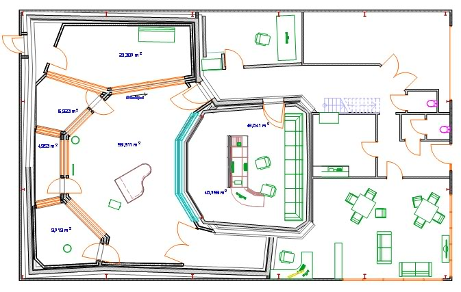 Home recording studio ideas for Recording studio floor plans architecture