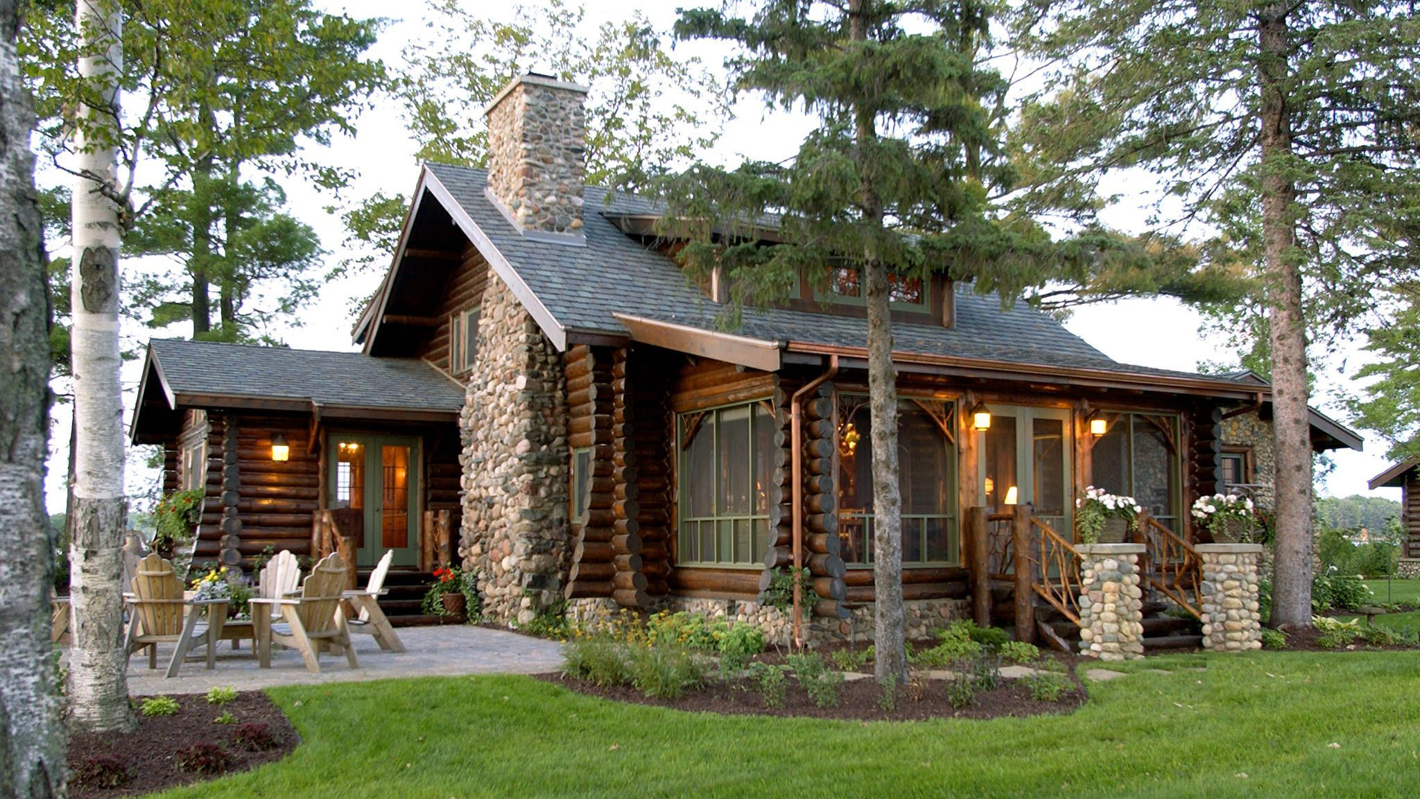 Bay lake lodge a h architecture for Log cabin architecture
