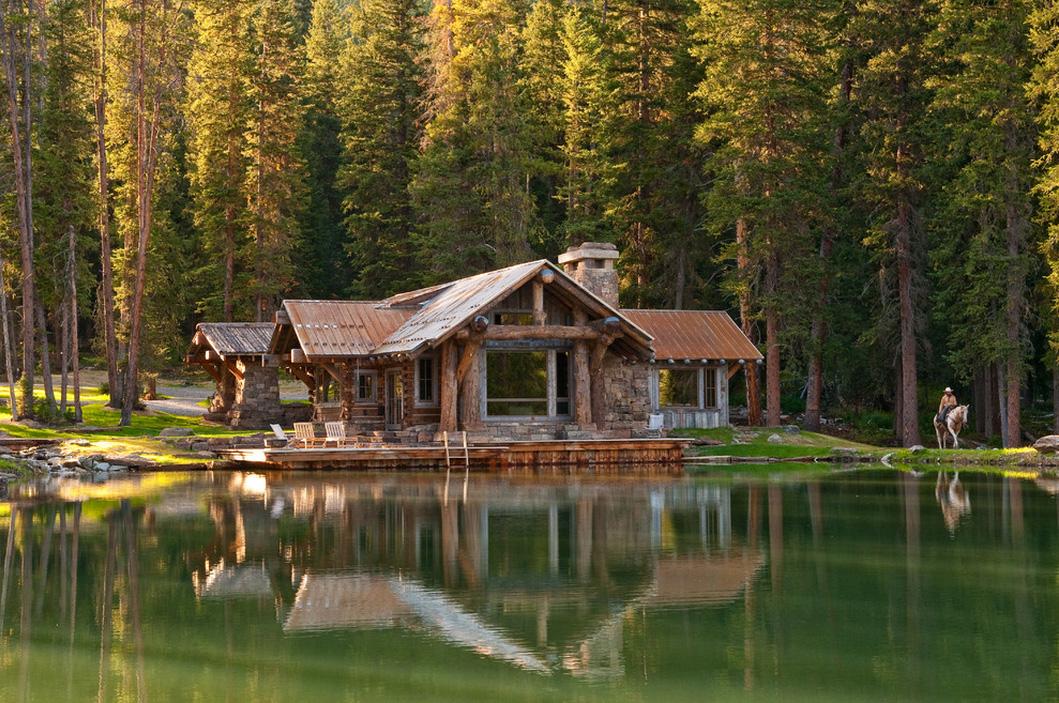 Montana log cabins, Montana house plans, Montana little homes, Montana tiny homes, rustic mountain cabins Montana, Montana Small Houses