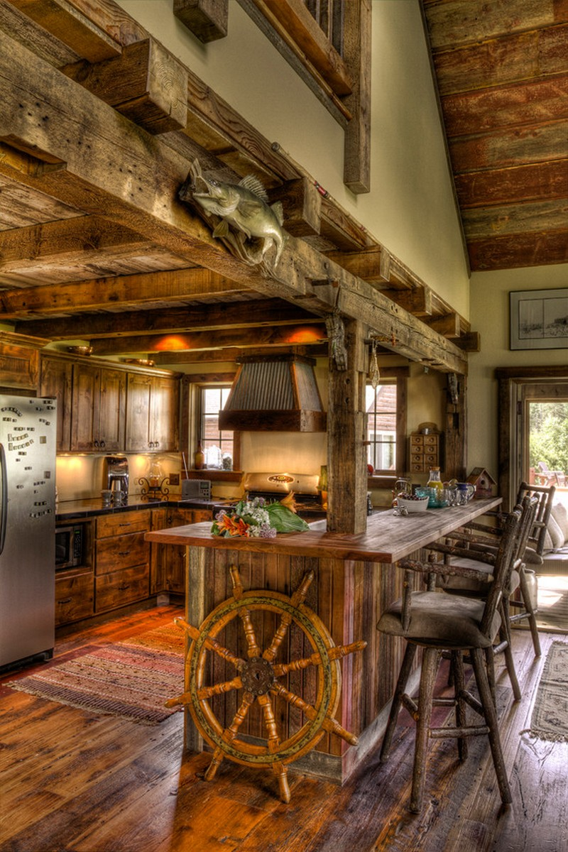 A wooden wonder fantastic farmhouse in minneapolis for Rustic texas home plans