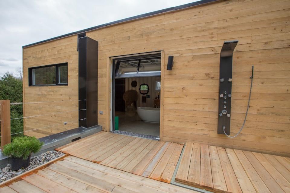La maison conteneur by les collections dubreuil - Construction maison conteneur ...