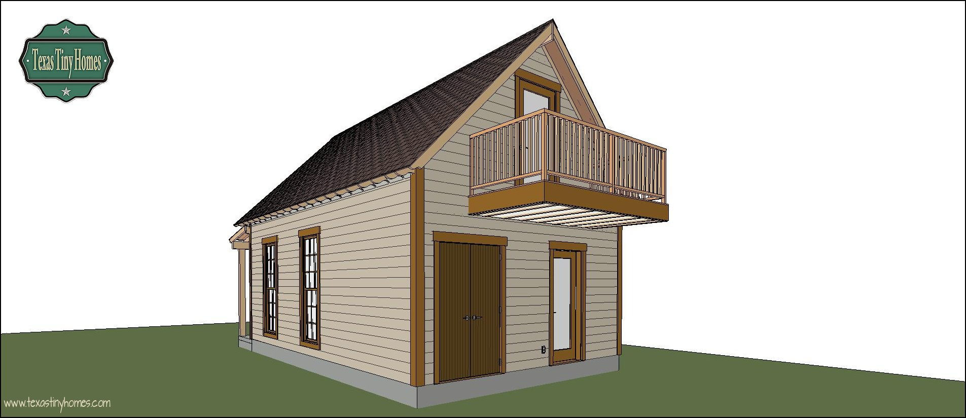 Texas tiny homes plan 572 for Small house plans texas