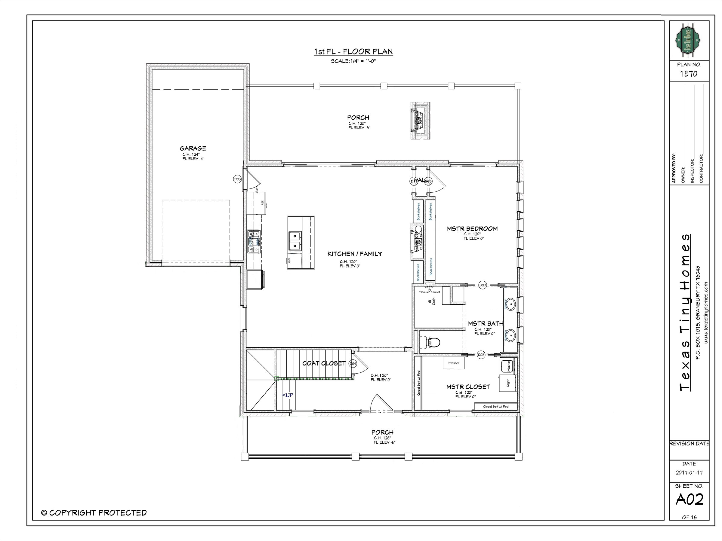 Texas tiny homes plan 1870 for Texas home builders floor plans
