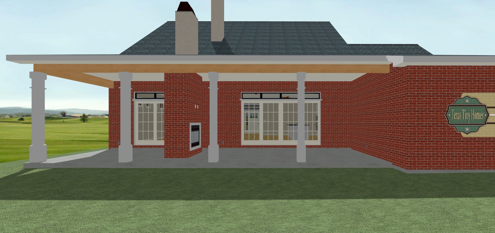 Texas tiny homes plan 1870 for Tiny texas houses plans