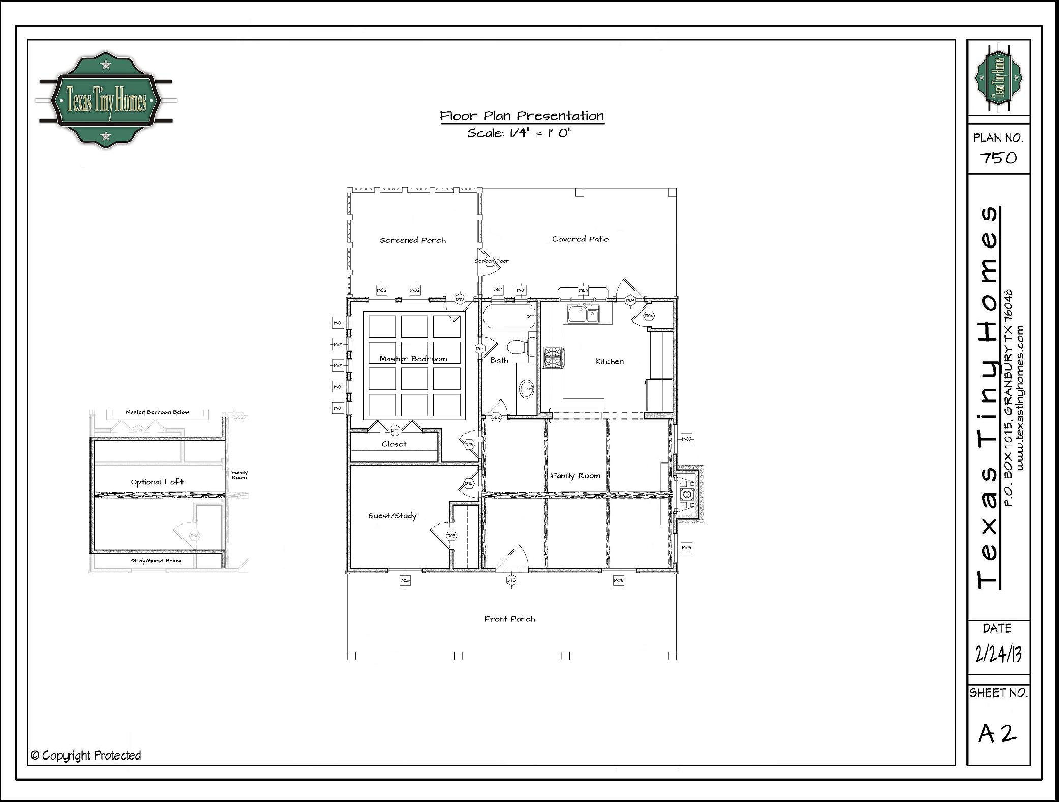 Texas Tiny Homes | Plan 750 |
