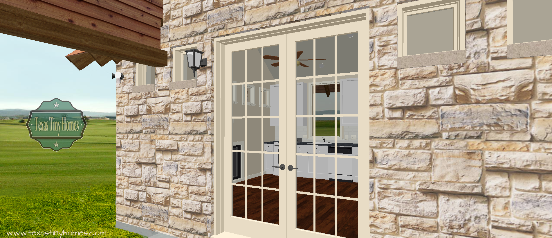 Exterior Porch into kitchen 1