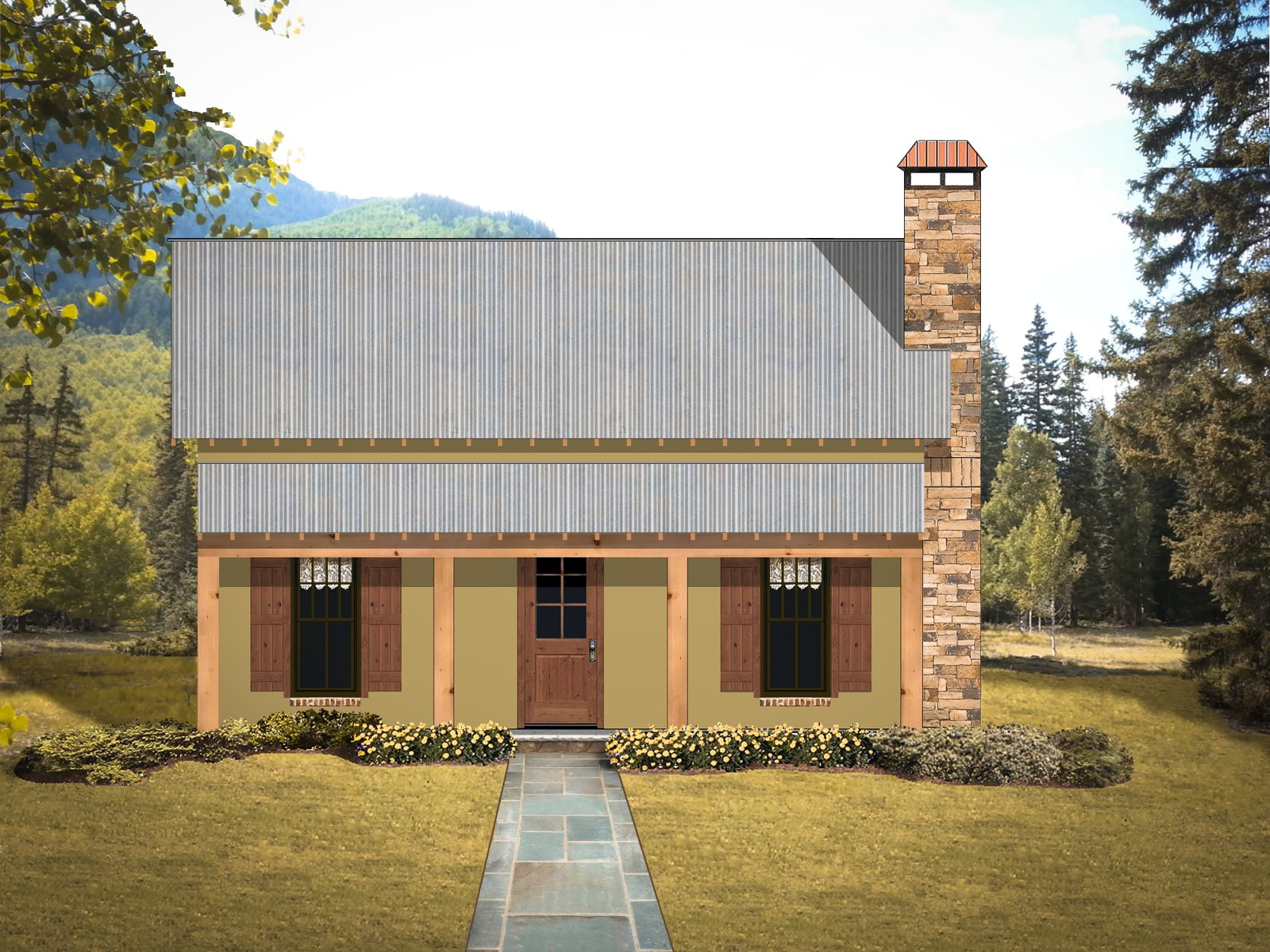 Texas tiny homes plan 750 for Cabin builder texas