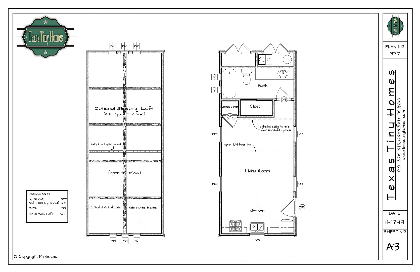 Floor Plan Presentation Sheet - For Website