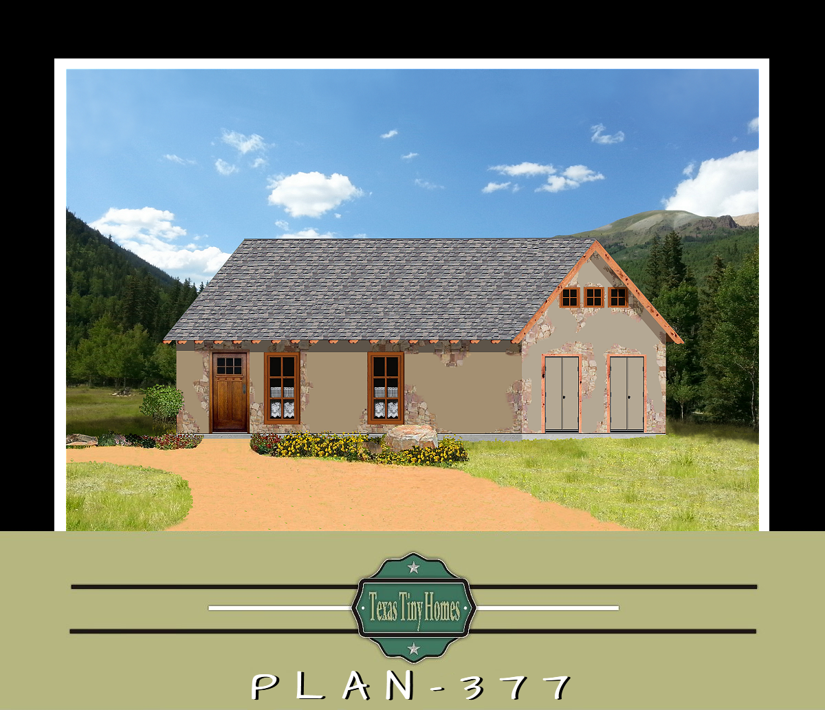 Texas tiny homes plan 377 for Small house plans texas
