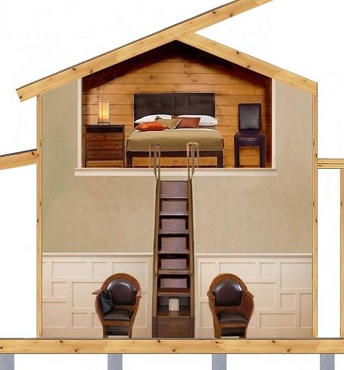 Inside Tiny Houses Tiny House Floor Plans With Loft Small: Tiny And Small Doesn't Have To Mean Plain And Simple