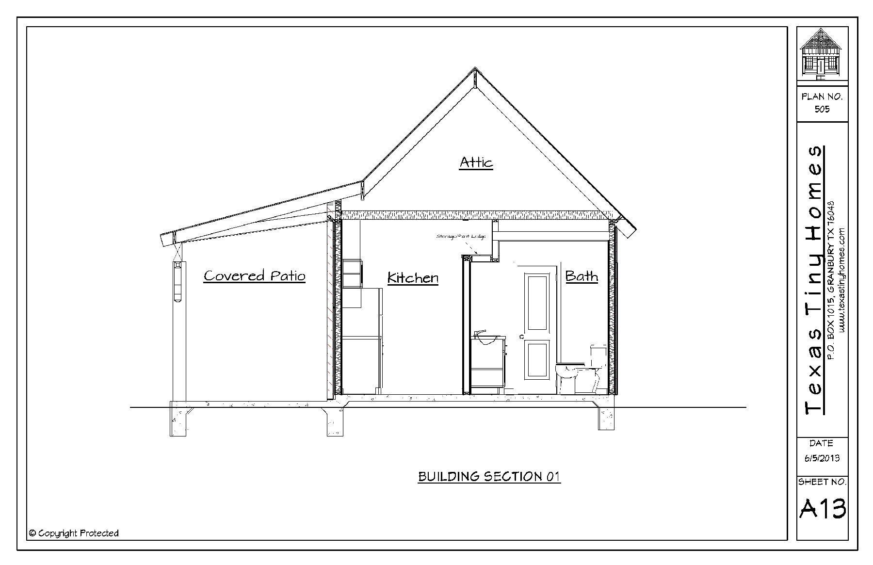 Texas tiny homes plan 505 for Home design plans