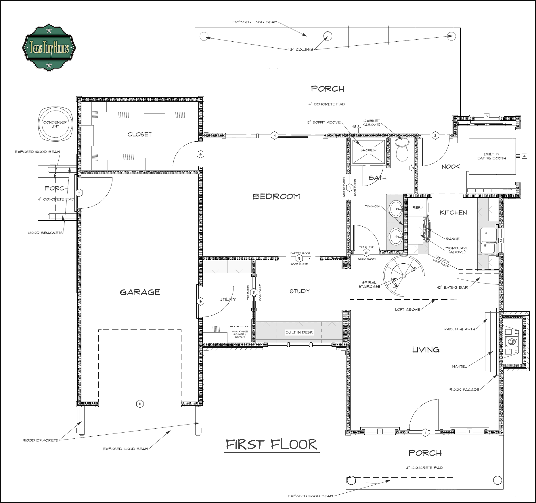 Tiny texas houses floor plans meze blog for Small house design texas