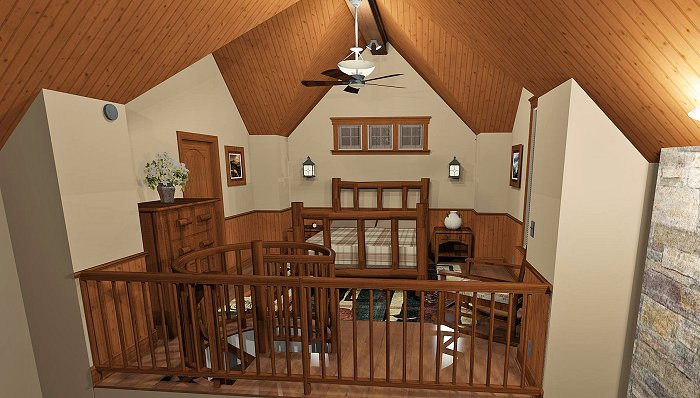Plan 1180 for Small house with loft design