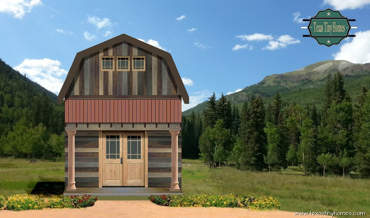 Texas tiny homes plan 618 for Cabin builder texas