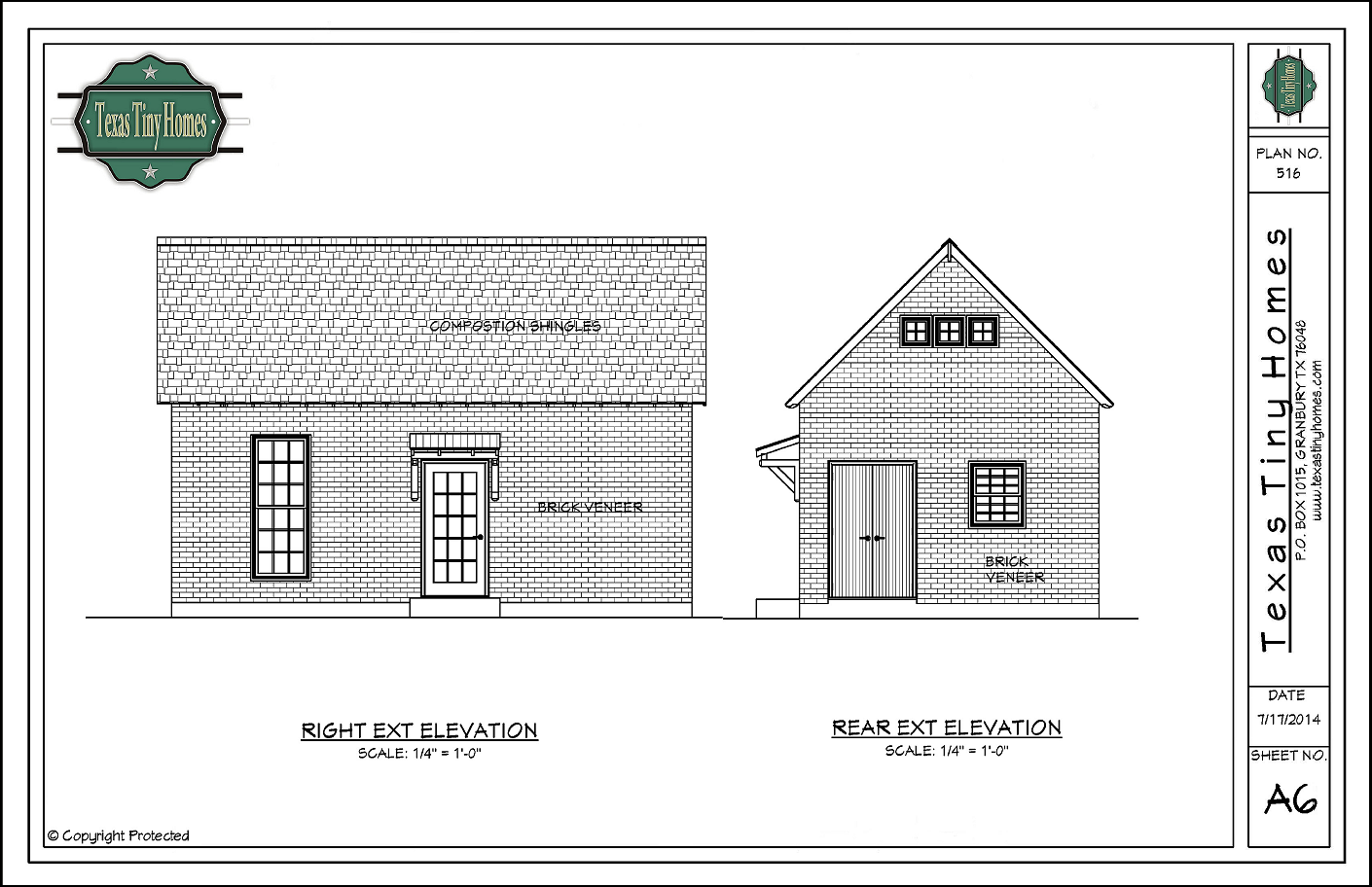 Small House Plans And Elevations : Texas tiny homes plan