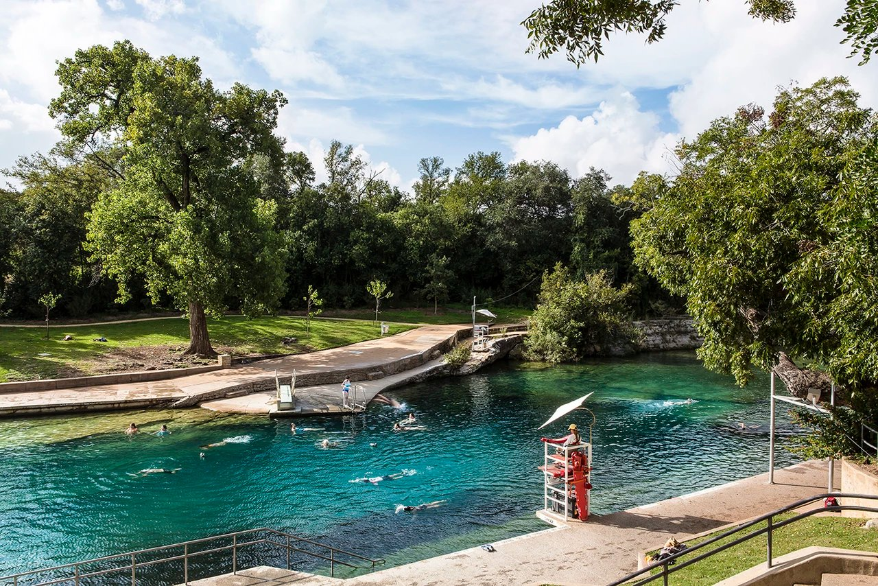 Barton springs pool a texas spring fed swimming hole City of san antonio swimming pools