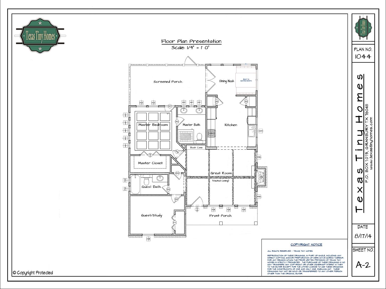 Plan 1044 for Floor plan websites