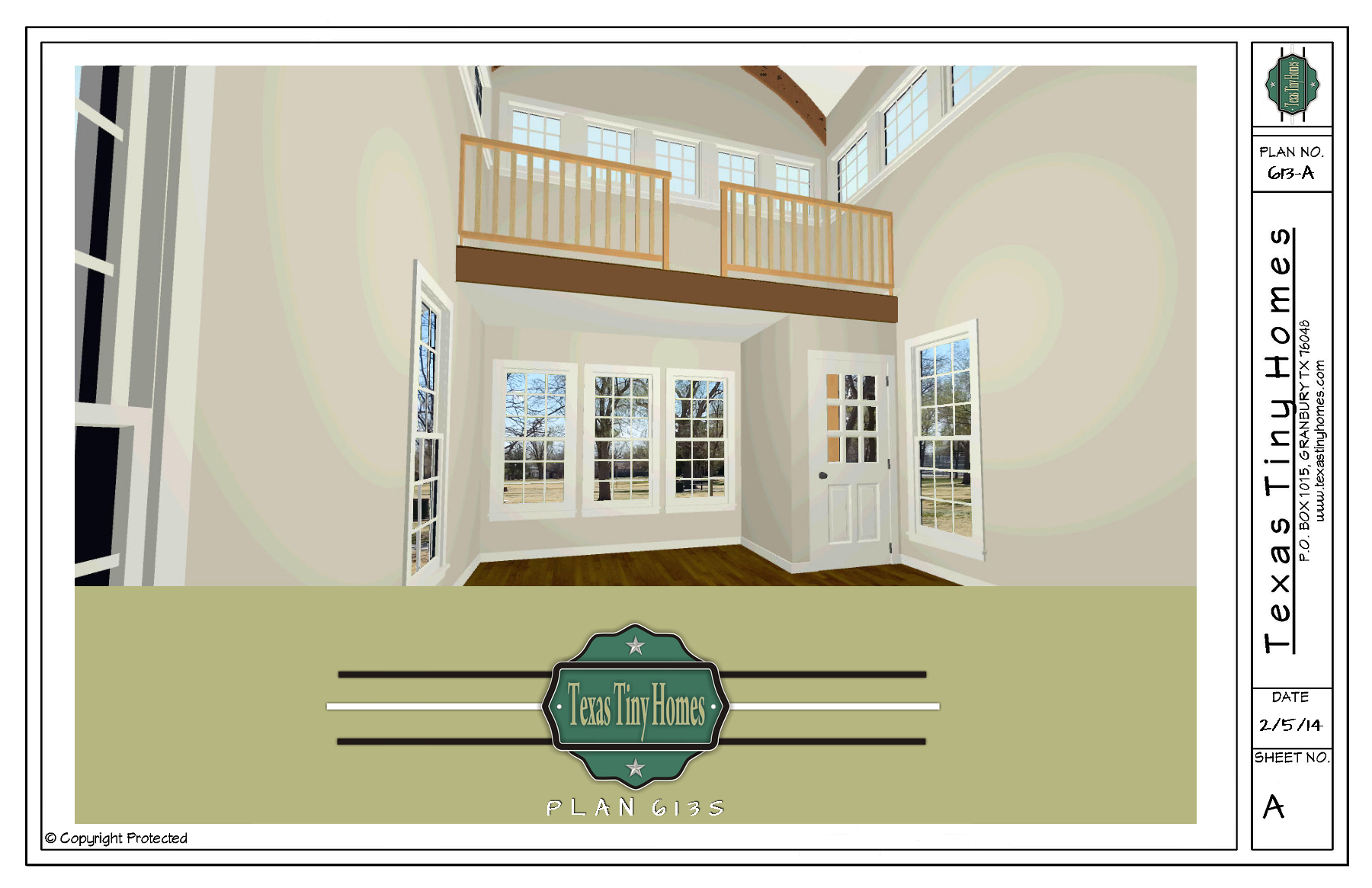 Tiny Home Designs: Plan 613-S