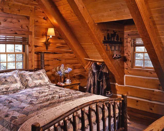 7 Log Cabin Bedroom 906