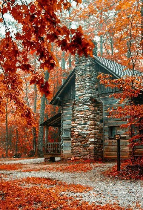 fall autumn houses homes tiny little theberry administrator october posted austin luxury