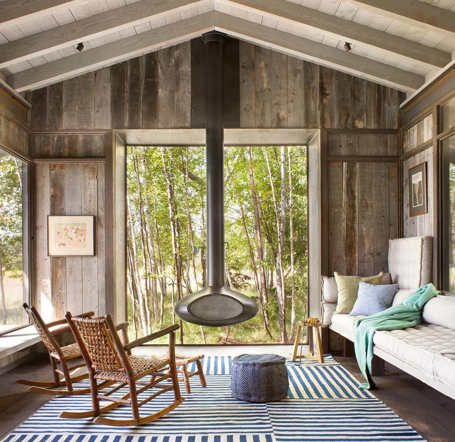 Rustic Interior Design With Shutters: Modern-Rustic Cabin