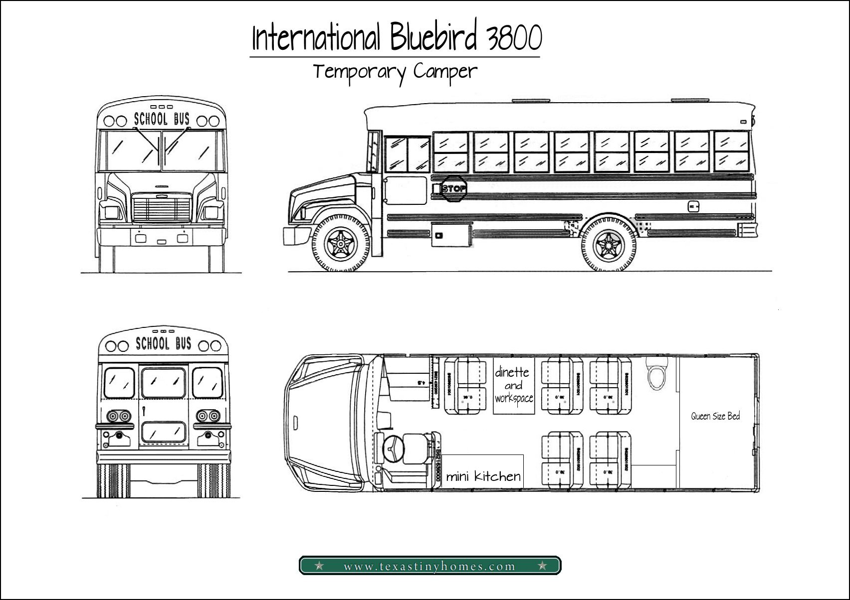 school bus floor plan 3 rh texastinyhomes com Bus Plan Photoshop Business Plan