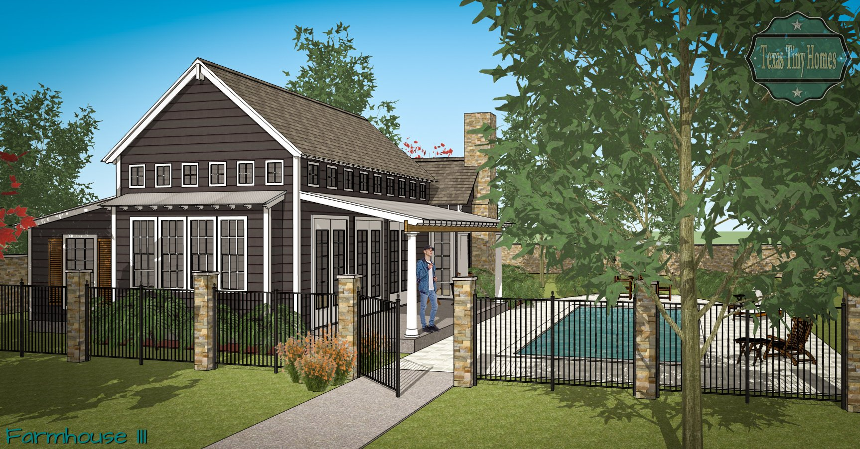 New Homes Granbury, Texas Tiny Homes, Small Homes Texas, Little Luxury Homes, Small Luxury Homes, Designer Luxury Homes